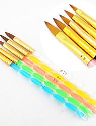 Недорогие -5шт 5 размерах цветов 2-полосная Профессиональная УФ-гель Кисть акриловая Nail Art Картина кисти Draw