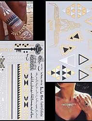 Séries de Jóias/Séries Animal Tatuagem Adesiva - Non Toxic/Hawaiian/Lombar/Waterproof - para Feminino/Masculino/Adulto/Adolescente - de Papel -