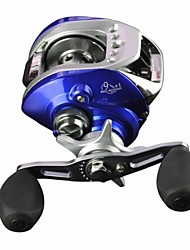 cheap -10 Ball Bearings Left-handed  Baitcasting Reel /Sea Fishing/Fly Fishing/Boat Fishing Baitcast Reels