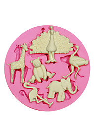 Cute Multi AnimalSilicone Mould Cake Decorating Silicone Mold For Fondant Candy Crafts Jewelry PMC Resin Clay SM-059