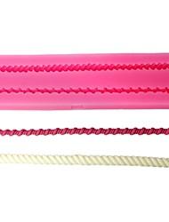 quatre c Couleur des moules conception de gâteau 3d gaufrage du moule en silicone rose