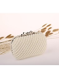 cheap -Women's Bags Acrylic Evening Bag Pearls White / Ivory