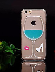 cheap -Case For Apple iPhone 6 iPhone 6 Plus Flowing Liquid Back Cover 3D Cartoon Hard PC for iPhone 6s Plus iPhone 6s iPhone 6 Plus iPhone 6