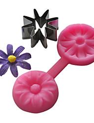 силиконовые формы кекс 8 лепестков цветка выбивать