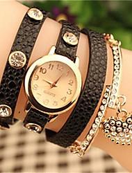 Недорогие -Жен. Часы-браслет Горячая распродажа Кожа Группа Богемные Черный / Белый / Синий