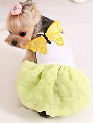 Cachorro Vestidos Roupas para Cães Fantasias Casamento Amarelo Rosa claro Ocasiões Especiais Para animais de estimação