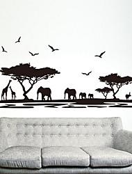 Недорогие -экологические съемные африканской саванне теги пвх& наклейка