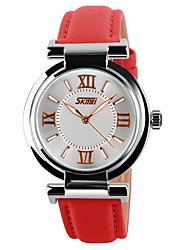 cheap -SKMEI® Women's Elegant Roman Numbers Pattern Wristwatch Japanese Quartz Leather Strap Cool Watches Unique Watches