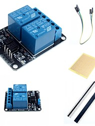 cheap -2 Channel Electric Relay Module Relay Expansion Board with Optocoupler and Accessories for Arduino