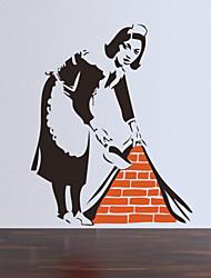 economico -Fashion / Persone Adesivi murali Adesivi aereo da parete , PVC 57*46cm