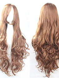 cheap -The new European and American high-temperature  Color Linen Long Curly Hair Wig80CM