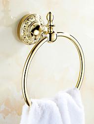 Недорогие -Кольцо для полотенец Карбонитрид титана Крепление на стену 215*170mm(8.46*6.69inch) Медь Неоклассицизм