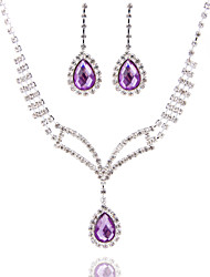 cheap -Women's Rhinestone / Pearl Jewelry Set - Others Silver, Red, Royal Blue