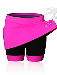 SPAKCT Cycling Skirt Women's Bike Skirts & Dresses Shorts Padded Shorts/Chamois Bottoms Breathable Compression 3D Pad Reduces Chafing