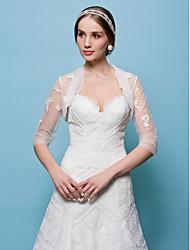 economico -la cerimonia nuziale del tulle / gli involucri di cerimonia nuziale di sera alza le spalle lo stile elegante