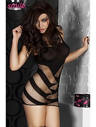 Women Sexy Black Red Bodystocking Lingerie Fishnet Mesh Ladies Chemise Sleepwear Underwear Free shipping