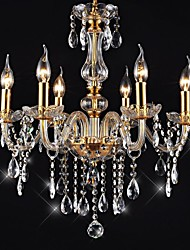 cheap -Chandeliers 6 Lights Golden Vintage in Crystal Feature High Quality