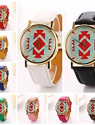 mulheres formas geométricas relógio de pulso de couro pu diamante marca de luxo senhora vestido de suporte (cores sortidas) c&d-194