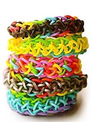 4400pcs colorido cor do arco-íris estilo tear de silicone pulseiras 4400pcs bandas de bricolage, 12 s-clips, 1 teares, 1hook + 1box