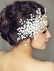cheap -Pearl Hair Combs Headpiece Wedding Party Elegant Feminine Style