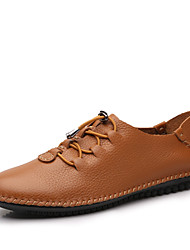 cheap -Men's Oxfords Fall Winter Formal Shoes Nappa Leather Outdoor Office & Career Party & Evening Casual Big Size