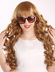 cheap -Synthetic Wig / Cosplay & Costume Wigs Curly Golden Asymmetrical Haircut Synthetic Hair Natural Hairline Golden Wig Women's Long Capless