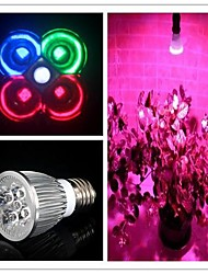 5W E26/E27 LED Grow Lights MR16 3 High Power LED 450-550 lm Natural White Red Blue Green K AC 85-265 V