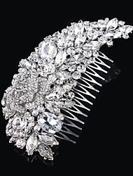 diseño vintage novia boda peine de cristal pelo accessior estilo elegante
