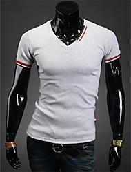 maglietta casuale v collo degli uomini di Diyici