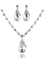 Simple and Elegant Ladies'/Women's Alloy Wedding/Party Jewelry Set With Rhinestone