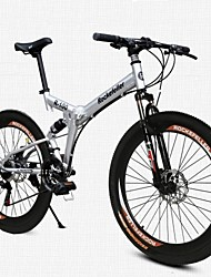 cheap -Mountain Bike Folding Bike Cycling 21 Speed 26 Inch/700CC 50mm Men's Women's Unisex Adult SHINING SYS Double Disc Brake Soft-tail Frame