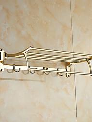 Недорогие -Держатель для полотенец Карбонитрид титана Крепление на стену 600*250*135mm (23.6*9.84*5.31inch) Медь Неоклассицизм
