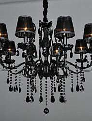 cheap -LWD 10-Light Candle-style Chandelier Ambient Light - Crystal, 110-120V / 220-240V Bulb Not Included / 20-30㎡ / E12 / E14
