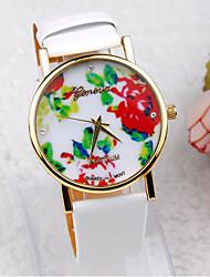 Coway Женева женщины Круглый циферблат кожаный ремешок кварца золотой аналоговые наручные часы (ассорти цветов)