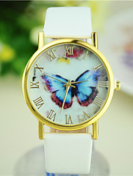 cheap -Women's Butterfly New Hot Models Simple Leather Watch