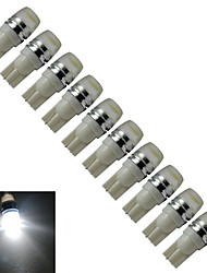cheap -JIAWEN® 10pcs T10 0.5W 40-90LM 6000-6500K Cool White  Side Maker Lamp LED Car Light (DC 12V)