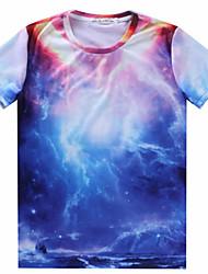 MEN - T-shirt - Informale/Lavoro Rotondo - Maniche corte Misto cotone