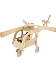 Недорогие -DIY Craft деревянные вертолет трехмерной головоломки