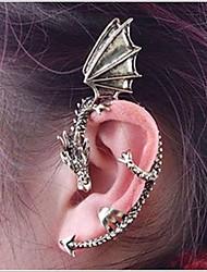 baratos -Mulheres Punhos da orelha - Dragão Personalizada, Punk, Europeu Bronze / Prateado / Cinzento Para Casamento Festa Halloween