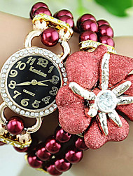 cheap -Women's Quartz Bracelet Watch Hot Sale Alloy Plastic Band Flower Pearls Multi-Colored