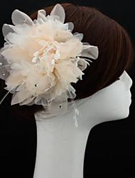 Недорогие -шифон факсиниров цветы шляпы головной убор классический женский стиль