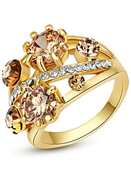 Women's Statement Rings Crystal Fashion Costume Jewelry Alloy Jewelry For Party