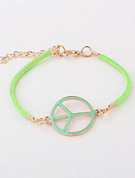 Lucky Star Women's Fashion Peace Symbol Chain Bracelet More Colors