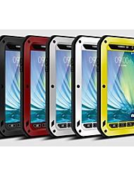 お買い得  -ケース 用途 Samsung Galaxy Samsung Galaxy ケース 水 / 汚れ / ショックプルーフ フルボディーケース 鎧 メタル のために A3