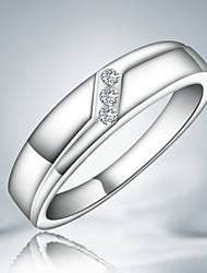 Band Rings Sterling Silver Cubic Zirconia Fashion Statement Jewelry Silver Jewelry Party 1pc