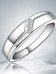 Недорогие -Классические кольца Стерлинговое серебро Цирконий Мода Заявление ювелирные изделия Серебряный Бижутерия Для вечеринок 1шт