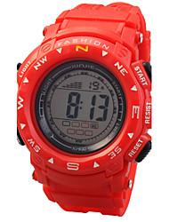 дети круглый циферблат PU Группа многофункциональный светодиодный цифровой спортивные наручные часы 30m водонепроницаемый