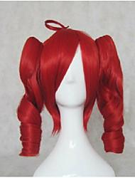 povoljno -Sintentička kosa perika Valovita kosa S konjskim repom Lolita Perika Cosplay perika Srednji duljina Bijela Braon Plavuša Crvena