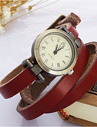 cheap -Women's Fashion Watch Bracelet Watch Wrist watch Quartz Leather Band Vintage Bohemian Blue Red Brown