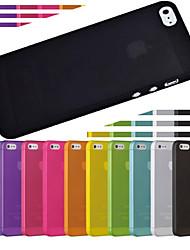 Недорогие -тренажерный зал ультра тонкий полупрозрачный чехол для iPhone 5/5 секунд (ассорти цветов)